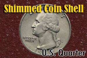 Shim Shell US Quarter Coin for Magic Tricks - Use with Raven or Magnets.