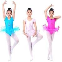 Baby Kids Girls Ballet Tutu Dance Dress Leotard Dancewear Gymnastics Skirt 3-7Y