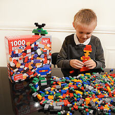 Kids Building Bricks Blocks 1000 Piece Construction Creative Set Build Toys Game