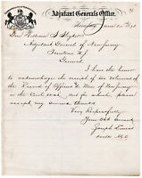 Adjutant General's Office of Pennsylvania 1878 Signed Document to Gen. Stryker