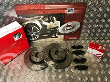 BREMBO FRONT BRAKE DISCS DRILLED & GROOVED & BRAKE PADS HONDA CIVIC TYPE R FN2