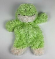 Baby Ganz Plush Flat A Pat Green Frog Animal Security Blanket Lovey Excellent