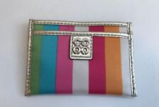 Coach Legacy Stripe Multi Striped Card Holder New in Box