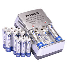 8pcs AA 3000mAh + 8 AAA 1000mAh Ni-Mh BTY Rechargeable Battery Cell+Charger