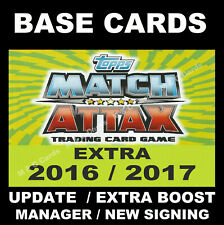 Match Attax EXTRA 2016/17 Premier League BASE CARDS / Updates / New Signing