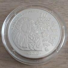 Pièce de 10 euros, FRANCE, 2016, Fables de La Fontaine (Singe), sous capsule