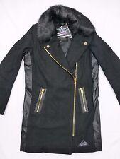 Damen Wollmantel Winter Kurz Mantel von VSCT Clubwear Gr. XS schwarz neu
