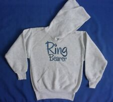 New Hanes Comfortblend Youth Size Small Hooded Ring Bearer Gray Sweatshirt