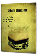 Tin Sign XXL Bar Party  Cocktail White Russian