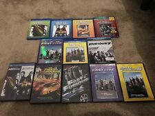 The Fast and the Furious lot movies on DVD and Blu Ray ( 1 - 7 )