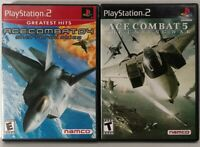 Ace Combat 4 + 5 Lot - Complete CIB, Tested, Free Shipping (Playstation 2 PS2)