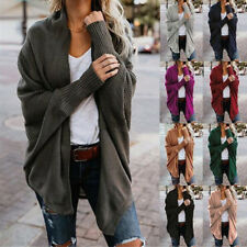 AU Casual Womens Kit Kimono Batwing Long Sleeve Cardigan Jacket Coat Tops Trench