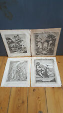 The Life of Christ x4 Antique Engravings, 1811 - Jacob's Well, Sower Went Forth