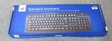 New Sealed V7 KC0D1-5E3P UK English Wired Black Desktop Standard USB Keyboard