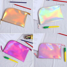 Hologram Holographic Pencil Bag Zipper Pouch Handbag Makeup Laser Bag Storage