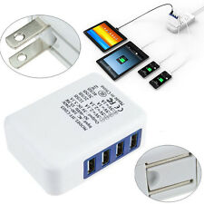 3.1A 4 Port USB Portable Home Travel Wall Charger US Plug AC Power Adapter White
