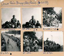 Cyclomoteur 1953 - 10 Photos Course Paris-Bruxelles-Paris Mobylette - PL 602