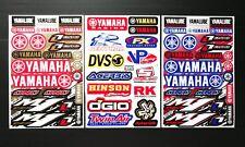 3 Mixed Sheets Stickers Motorcycle Motocross  ATV Racing Dirt Bike Helmet Decal