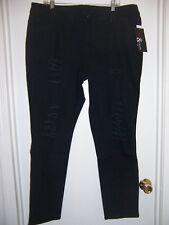 Women's NWT Black Destructed Denim Jeans Sz 18W On Sale