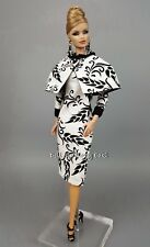 Silkstone Barbie Fashion Royalty Vintage style Black White Dress Outfit Gown FR