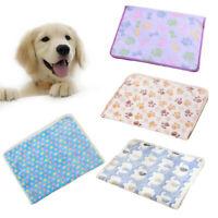 Pet Warm Mat Paw Print Cat Dog Puppy Fleece Soft Blanket Bed Cushion