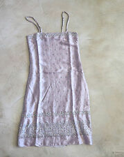 MEGAN PARK  holiday beaded silk slip dress  size 1 - LITTLE