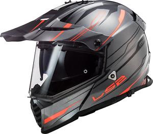 LS2 MX436 Pioneer Evo Knight Full Face Motorcycle Bike Enduro Off Road Helmet