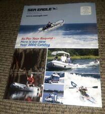 Sea Eagle 2000 CATALOG Inflatable Kayak boat Paddles Pump Accessories VINTAGE