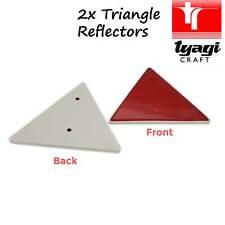 Triangolo rosso 2 pezzi di grandi dimensioni Rimorchio Roulotte Posteriore Posteriore Camion horsebox MURO GARAGE