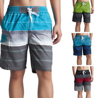 Men's Stripe Beach Shorts Swim Trunks Quick Dry Beach Surfing Shorts Mesh Lining