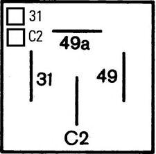 HELLA Flasher Unit 4 pin 12 V - 4DM003360-021