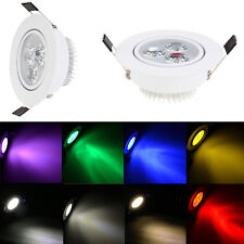 Dimmable 3W LED Ceiling Recessed Downlight Fixture Lamp Spot Light & Free Driver