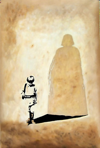 Darth Vader 28x16in oil painting, framing avail.Star Wars Phantom Menace Maul