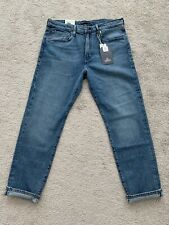 LEVIS MADE AND CRAFTED 502 TAPER FIT SELVEDGE JEANS 34X32 LUDLOW