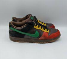 Nike Dunk Low 6.0 Size Men's 10 314142-233 Dark Cinder Pine Green Red Yellow