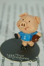 Football Pig 2016 Merry Miniatures Hallmark~New Collection~Small~Free Ship In Us