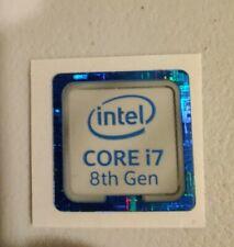 Intel CORE i7 8th Gen Sticker 18mm x 18mm - 8th Generation