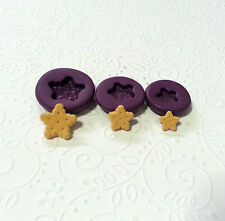 Silicone Molds Miniature Star Biscuit Mould Set (9-14mm) Jewelry Fake Sweet Food