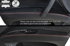 Cuciture color arancio 2x PORTA ANTERIORE Bracciolo in pelle copre si adatta a Audi q7 4l 2006-2015