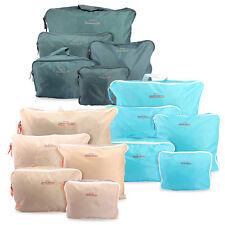 5 шт. водонепроницаемая одежда для путешествий хранения сумки упаковки куб багаж органайзер сумка