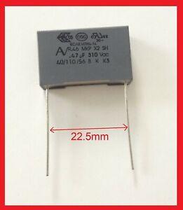 Condensateur MKP X2 0.47uF 470nF 474K 275V 310V 22,5mm