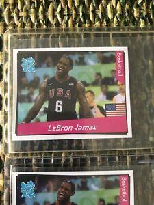 LEBRON JAMES PANINI STICKER LONDON 2012 OLYMPICS ROOKIE #147 New unused RARE