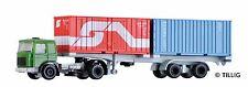 TT LKW MAN mit Containerauflieger beladen mit 2 Containern Tillig 08716