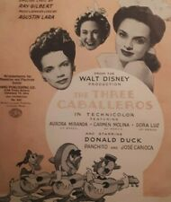 Disney The 3 Caballeros Sheet Latin Music Action Donald Duck Animation Film