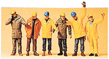 Preiser 1:50 scale Modern Workmen in Outdoor Clothing and Hardhats Figures 68214