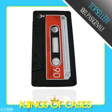 Apple iPhone 4 4S Silikon Handy Schutz Hülle Case Retro Tape in Schwarz
