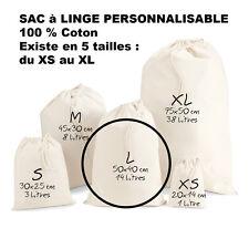 SAC à LINGE a personnaliser LESSIVE vetements enfants Taille L Modèle Moyen