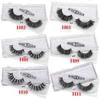 Free Messy Cross Thick Long Extension Tools False Eyelashes 3D Mink Hair