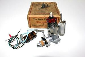 "Very Rare 1946 English Mechanair ""Red-Head"" 5.9 cc Ignition Model Engine."