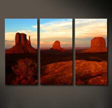 MONUMENT VALLEY Leinwand Bild Amerika  Berge Wandbild XL Kunstdruck No Poster